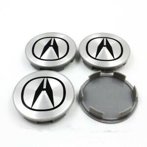 4Pcs/Set Silver Wheel Emblem Hub Center Cap 69mm Badge For Acura² TL MDX RL RDX