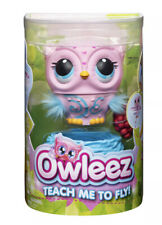 Owleez, Flying Baby Owl Interactive Toy with Lights & Sounds (Pink)