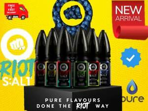 Riot Squad Punx Nic Salts 10ml 5mg 10mg 20mg E Liquid Vape Juice x 1 x 3 x 5 Eci