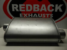 REDBACK 2 1/2 INCH MEGAFLOW STRAIGHT THROUGH OFFSET/CENTRE MUFFLER NEW  F727M