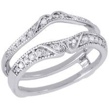 14K White Gold Diamond Solitaire Engagement Ring Antique Enhancer 0.25 Ct.