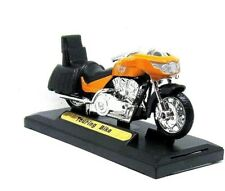 TOURING BIKE ,ORANGE MOTORMAX 1:18 DIECAST MOTORCYCLE COLLECTOR'S MODEL, NEW