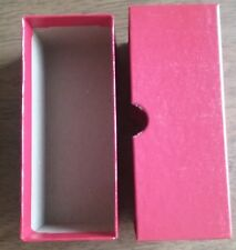 Red 2x2x5 Box for Coin Flips Holds 50+