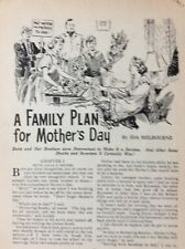 K1h Ephemera 1950s Short Story A Family Plan For Mother's Day Ida Melbourne