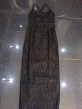 STUNNING BLACK DESIGNER EVENING DRESS, SIZE 10 BY JESSICA MCCLINTOCK