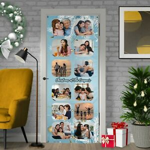 Christmas Decoration - Glaçon Blue - Personalised Photos And Text Door Banner