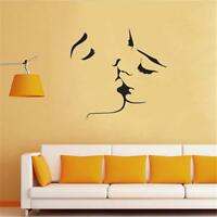 Romantic Two Lovers Are Kissing Love Wall Sticker Room Vinyl Mural Decor Shan