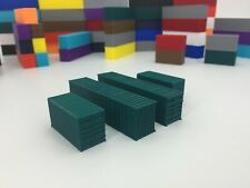 4 - SHIPPING CONTAINERS!!! (2) 20' and (2) 40' Containers - N Scale 1:160 GREEN