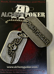 Poker Rox IRON MAIDEN DOG TAG Necklace Pendant RARE!!  DT23