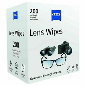 Zeiss Optical Lens Cleaning Wipes Glasses Phone Camera 1 x 200