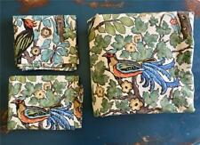 Pottery Barn MAYLE Duvet Cover SET Shams FULL QUEEN Exotic Birds Floral New RARE