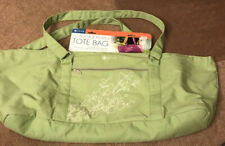 GAIAM Yoga and Pilates tote bag lime green with flowers. New with tags