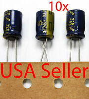 10x Panasonic FC 220uF 25V Low-ESR Capacitor caps 105C 8x11mm USA Seller