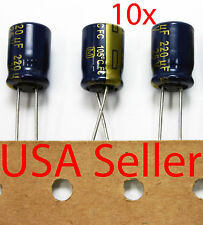 10x Panasonic FC 220uF 25V Low-ESR Capacitor caps 105C 8x11mm USA Seller