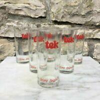 12 verres Publicitaire TEK sirop Lejay Lagoutte, vintage déco collection