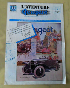 Vintage December 1985 L'Aventure PEUGEOT Association BROCHURE, Bulletin, Retro