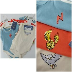 M&S Harry Potter Baby Girl Boy Unisex 0-3 Months Vests  NEW WITH TAG