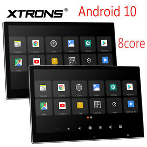"""2x 12.5"""" Android 10.0 8Core Auto Kopfstütze Monitor Screen 1080P HDMI BLUETOOTH"""