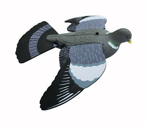 FLYING PIGEON DECOY WITH FOAM WINGS - FULL BODY REALISTIC HIGH DETAIL DECOYS