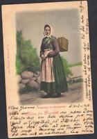 DANEMARK  Old postcard FISKERPIGE FRA SKOVSHOVED  TO ODENSE YEAR 1904