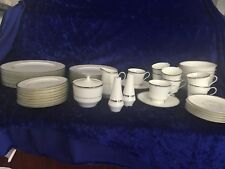 Mikasa Dinner Set For 8 Briarcliffe - Platinum Verge & Trim