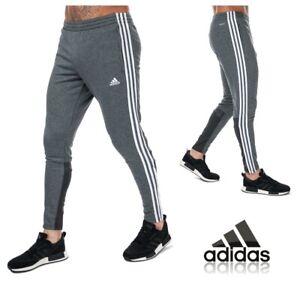 adidas 3S Joggers Sweat Pants Grey Jog Jogging Tracksuit Bottoms Size Small Mens