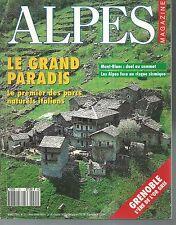 ALPES MAGAZINE n° 21.GRENOBLE, LE GRAND PARADIS, Mt BLANC...   Z13C