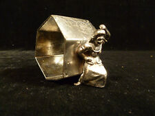 19TH CENTURY DANCING WOMAN SILVERPLATED NAPKIN RING
