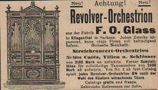 KLINGENTHAL, Werbung / Anzeige um 1900, Fabrik F. O. Glass Revolver-Orchestrion