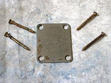 Fender Stratocaster / Telecaster  Neck plate RELIC 4-bolt OLD AGED ANTIQUE