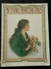 St Nicholas Magazine May 1916 HOUSE-BOAT CAMP - TOY YACHTING, INDIAN BICYCLE