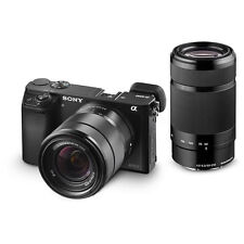 Sony a6000 Mirrorless DSLR 24.3 MP Camera Body + 16-50mm + 55-210mm Lens Kit