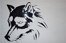 Wolf Aufkleber Sticker Auto Country Indianer m348