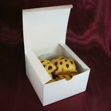 White Gloss Cookie, Cake Candy Gift Boxes 5x5x3""
