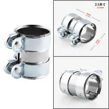 Car Turbo Exhaust/Downpipe/Catback/Muffler Tube Metal 2.5'' Flanges Clamp+Bolts