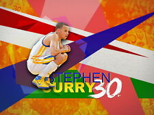"191 Stephen Curry - Golden State Warriors NBA Basketball MVP 32""x24"" Poster"