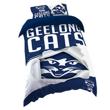 Geelong Cats AFL SINGLE Bed Quilt Doona Duvet Cover Set *NEW 2018 GIFT Idea