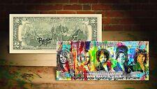 27 Club Control by Rency Art $2 Bill Signed by Artist #/215 Jimi Hendrix Banksy
