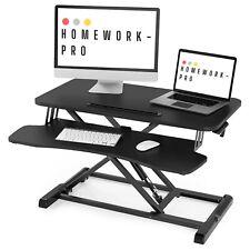 Height Adjustable Standing Desk Converter – 80cm (32 Inch) Surface Width