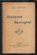 LITT. Madame Baringhel par Jean Lorrain. Edition Fayard Sans Date (1899).