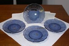 Princess House Fantasia Sapphire Luncheon Plates - Set of 4  5210