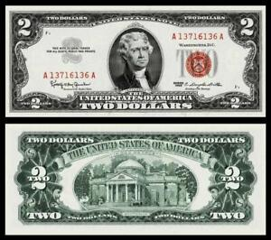 1963 $2 RED SEAL UNITED STATES NOTE ~~BRIGHT & CRISP ~ UNCIRCULATED