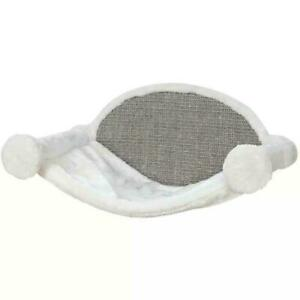 Trixie Cat Hammock Bed for Wall Mounting with Scratching Pad - Plush, 54 x 33 cm