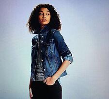 Denim  Levi Jean Jacket womens XS Blue Retail $59 - $69 NWT