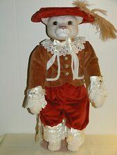 "Vintage Romeow Cat Porcelain Musical Doll Betty Jane Carter/Bette Ball 18"" 1994"
