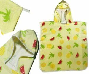 Poncho Kid Hooded swimming Beach Robe Bath Towel 100%Coton 60X87CM SUMMER PUNCH