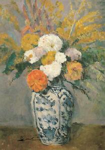 Kunstkarte: Paul Cezanne - Dahlien in Vase