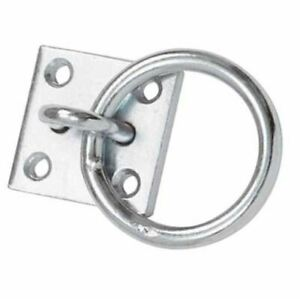 Heavy Duty Hitching Ring + Plate Horse Tie Up Livestock
