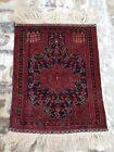 105x81 cm  Vintage Afghan Adraskan Baloch Prayer Rug, best Tribal Rug wool rug