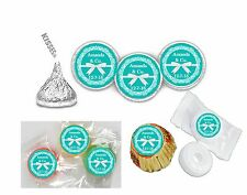 108 Tiffany inspired Hershey Kiss Labels Favors Stickers Personalized